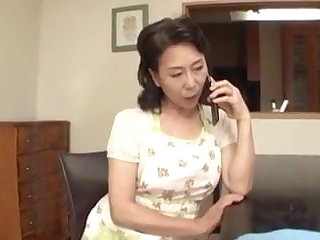 Grannies Japanese Mom caught by stepson