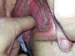 Close-ups Mates mum showing her tits and playing with pussy
