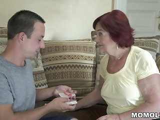 Ballbusting Old mom still loves dick