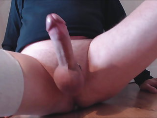 My solo 133 (On floor legs wide balls tied shooting out cum)