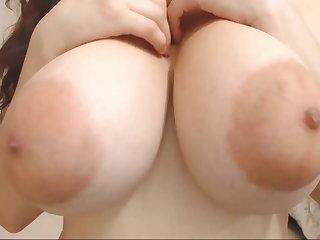Puffy Nipples Cute face & huge areolas