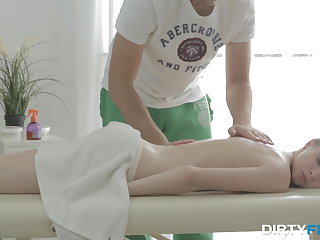 Dirty Flix - Nubiles Kortny - She cums hard on massage table