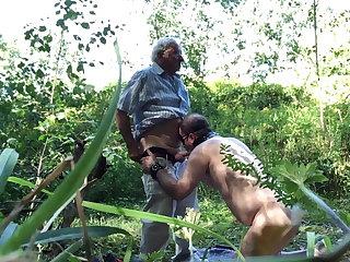 Public blowjob outdoor