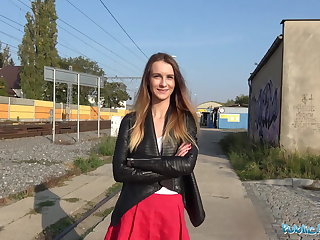 Public Agent She is pantyless and gets fucked hard