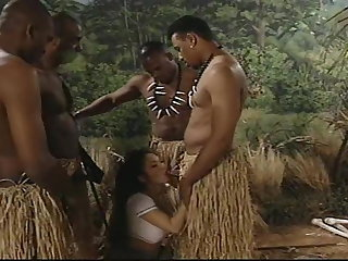 African Gangbang In The Jungle