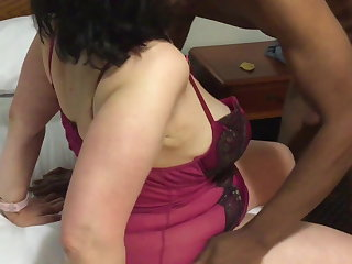 Ballbusting Mature Mother gives Young black Boy Oral