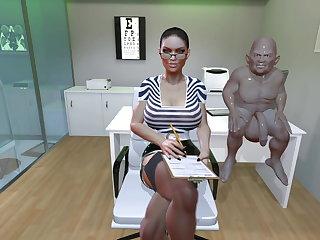 BDSM SFM VR 3D Mistress uses leech to make you cum again  twice (