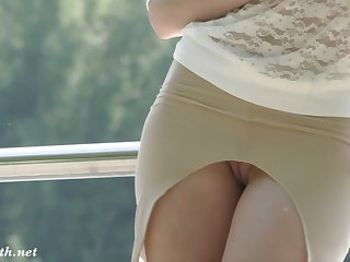 All women need that skirt. Jeny Smith flashing pussy in park Jeny Smith