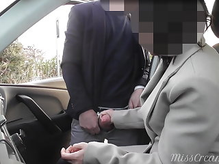 Finnish Dogging my wife in public car park and she jerks off a voyeur