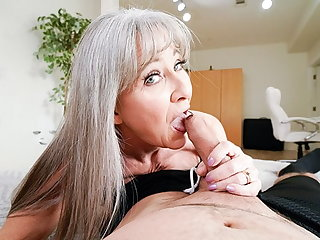 Asian Hot Granny Leilani Lei Rewards Stud For Hard Work