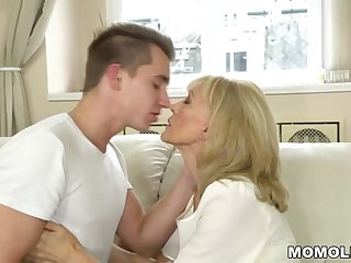Grannies Old lady enjoys deep fuck with her younger lover