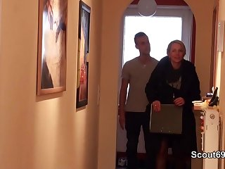 Teens German MILF seduce Young Boy to Fuck when Home alone